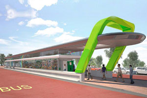 Artist's impression of a Harambee BRT station