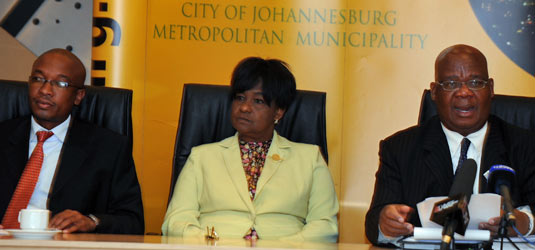 Joburg's executive mayor, Amos Masondo, discusses the 2010-2011 budget