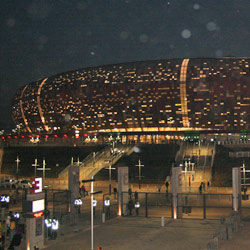 The FNB Stadium at night
