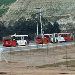 Rea Vaya buses take spectators to the stadium's doorstep