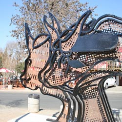 Public art abounds in Vilakazi Street