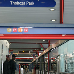 Thokoza Park Station is on Chris Hani Road, the longest street in the township