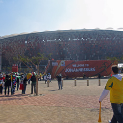 I marvel at the sight of Soccer City, inspired by an African calabash